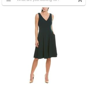 Donna Morgan Dark Green Dress with pockets!